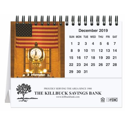 "Old Glory Tent Desk Calendar (5 13/16"" x 4 1/2"")"