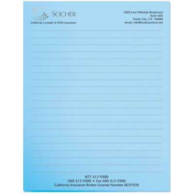 "Pastel Colors Scratch Pads w/ 100 Sheets (8 3/8""x10 7/8"")"