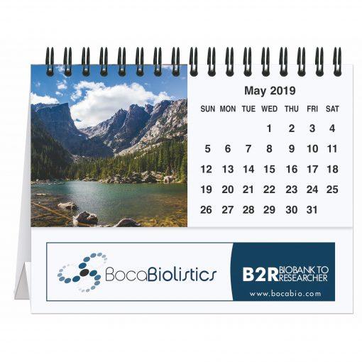 """Peaceful Peaks Tent Desk Calendar (5 13/16"""" x 4 1/2"""")"""