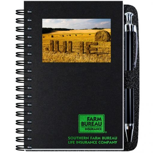 """Personalized Image Shadowbox Journals w/100 Sheets & Pens (4""""x6"""")"""