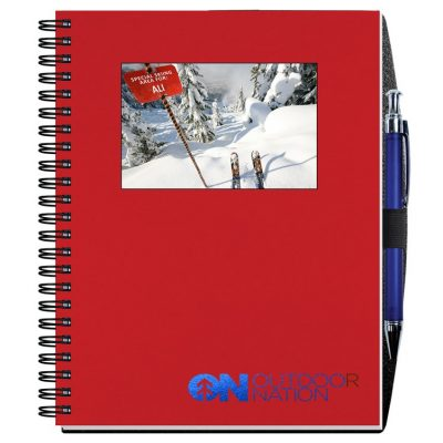 """Personalized Image Shadowbox Journals w/100 Sheets & Pens (6 1/2""""x8 1/2"""")"""