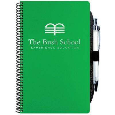 "Poly Cover Academic Weekly Planner w/Pen Safe Back & Pen (5 1/4""x8 1/4"")"