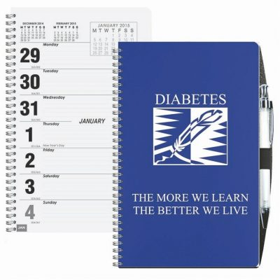 Poly Weekly Planner w/Pen Safe Back Cover & Pen