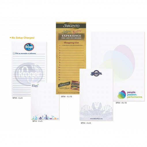 "Premium Full Color Scratch Pads w/ 100 Sheets (8""x10"")"