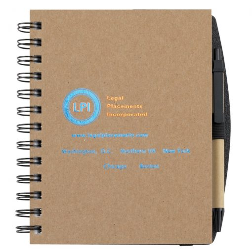"Recycled Journals w/Pen Safe Back Cover (5""x7"")"