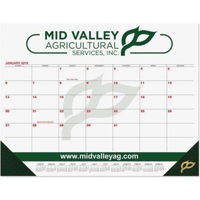 "Red & Black Calendar Desk Pads w/Two Color Imprint (21 3/4""x17"")"