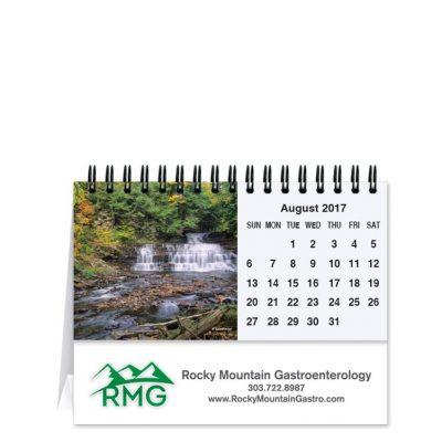 "Scenic Water Tent Desk Calendar (5 13/16""x4 1/2"")"