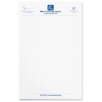 "Scratch Pad w/ 25 Sheets (5 3/8""x8 3/8"")"