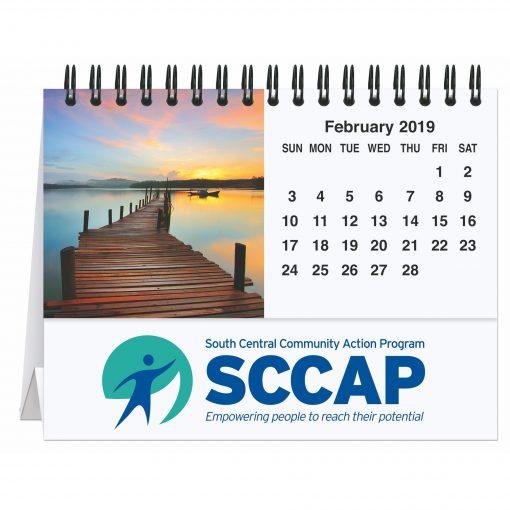 """Serene Sunsets Tent Desk Calendar (5 13/16"""" x 4 1/2"""")"""