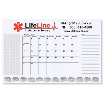 """Small Calendar Desk Pads (16 3/4""""x10 7/8"""")"""