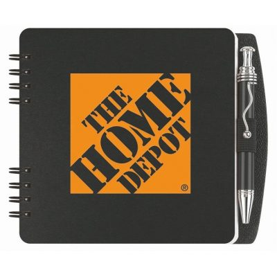 "Square Poly Journals w/Pen & Safe Back Cover (5"")"