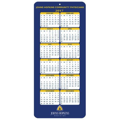 "Year at a Glance Calendar Cards (4""x9"")"