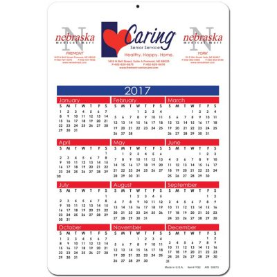 "Year at a Glance Calendar Cards (6""x9"")"