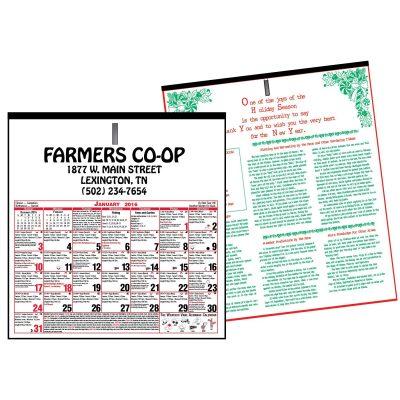 """6 Sheet Almanac Calendar (11""""x11 1/8"""")"""