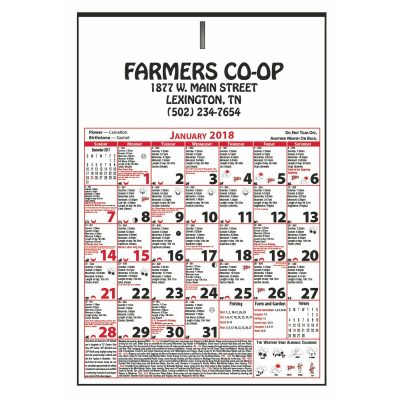 """6 Sheet Almanac Calendar (11""""x16 3/4"""")"""
