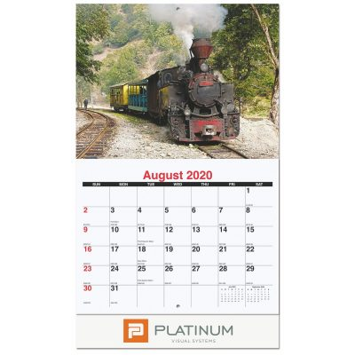 Magnificent Train Pictorial Calendar (Stapled)