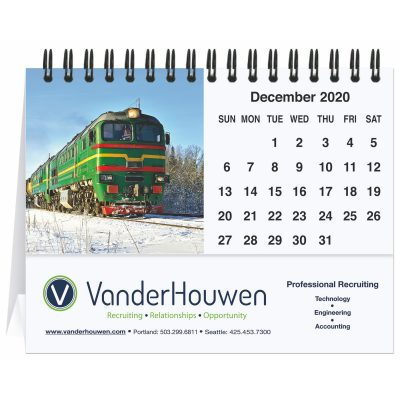 "Magnificent Trains Tent Desk Calendar (5 13/16"" x 4 1/2"")"