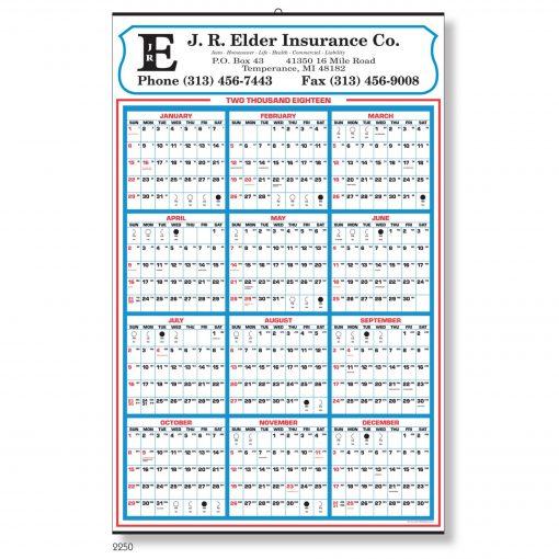 Yearly Memo Calendar