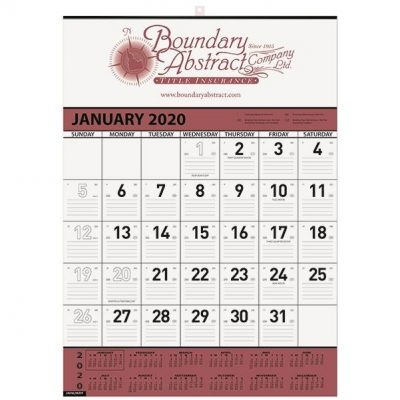 "Contractor Calendars - Choose Your Color w/1 Image & 1 Color Imprint (18""x25"")"