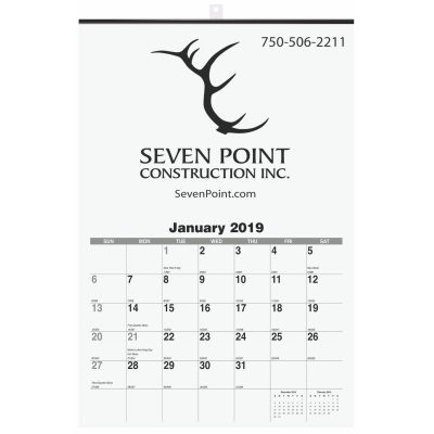 """Monthly Wall Calendars w/1 Image (12 1/4""""x18 1/2)"""