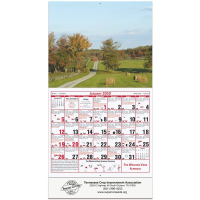 Weather Vane Almanac Calendar (Farmland)