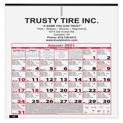 """6 Sheet Almanac Calendar (11"""" x 11 1/8"""")"""