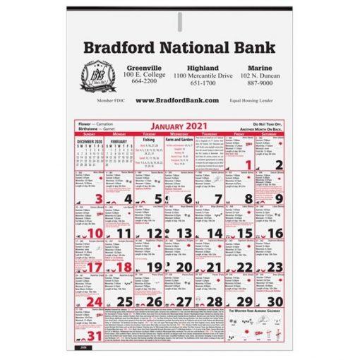 """6 Sheet Almanac Calendar (11"""" x 16 3/4"""")"""