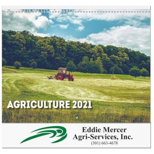 "Agriculture Monthly Wall Calendars w/Coil Bound (10 5/8"" x 18 1/4"")"