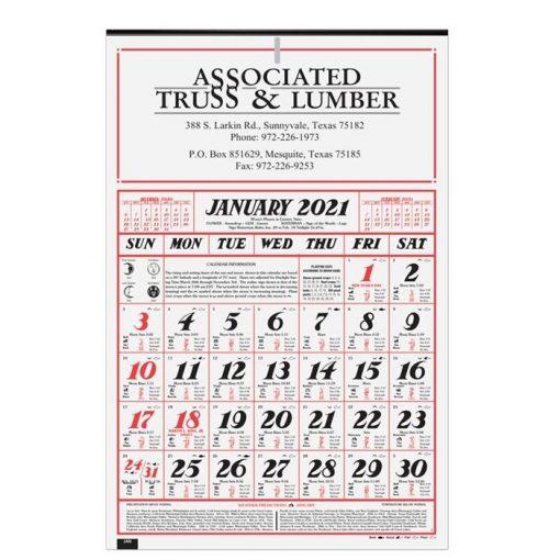"""Almanac Calendar (12 1/4"""" x 18 5/8"""")"""
