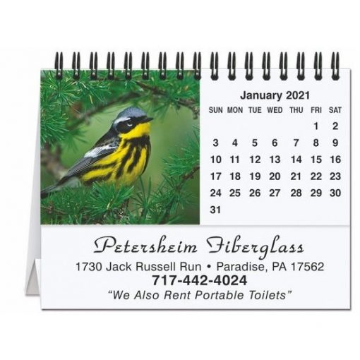 "Bird Watching Tent Desk Calendar (5 13/16"" x 4 1/2"")"