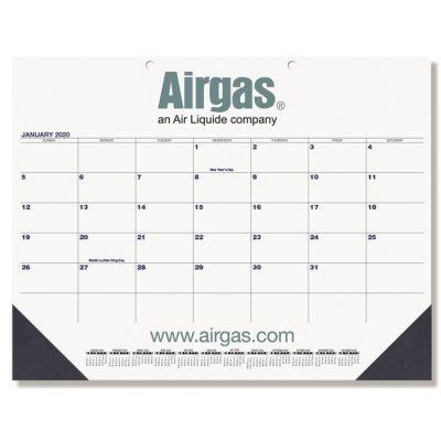 "Black & Black Calendar Desk Pads w/One Color Imprint (21 3/4"" x 17"")"