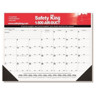"Black Calendar Desk Pads w/One Color Imprint (21 3/4"" x 17"")"