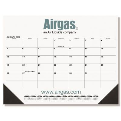 "Black Calendar Desk Pads w/One Color Imprint (21 3/4"" x 17"")"
