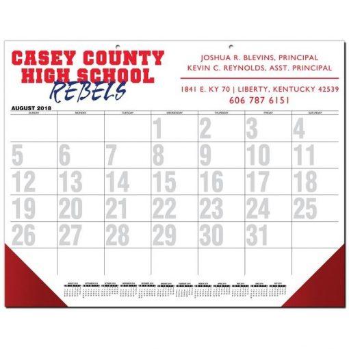 """Black Calendar Desk Pads w/Two Color Imprint (21 3/4"""" x 17"""")"""
