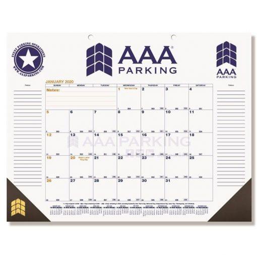 """Blue & Gold Calendar Desk Pads w/One Color Imprint (21 3/4"""" x 17"""")"""