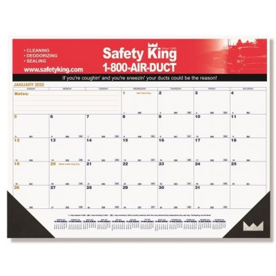 "Blue & Gold Calendar Desk Pads w/Two Color Imprint (21 3/4"" x 17"")"