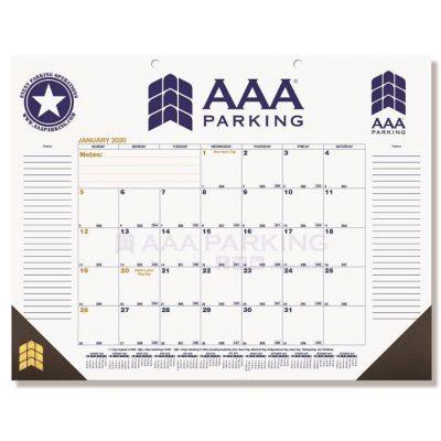 """Blue & Gold Calendar Desk Pads w/Two Color Imprint (21 3/4"""" x 17"""")"""