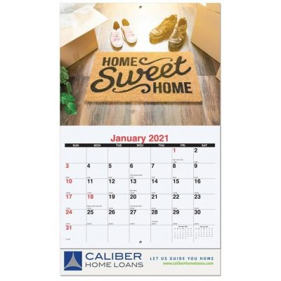 "Custom 13 Photo Wall Calendars w/Stapled Bound (10 5/8"" x 18 1/4"")"