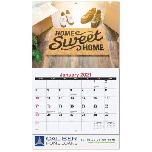 "Custom 13 Photo Wall Calendars w/Stapled Bound (10 5/8"" x 18 1/4"")"