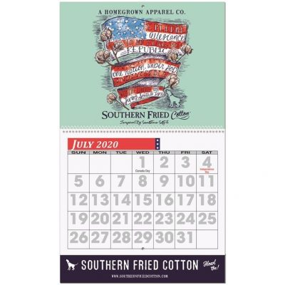 "Easy Read Wall Calendar w/Coil Bound (10 5/8"" x 18 1/4"")"