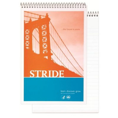 "Econo Stenographer Notebook w/4 Color Process (5 3/8"" x 8 1/4"")"