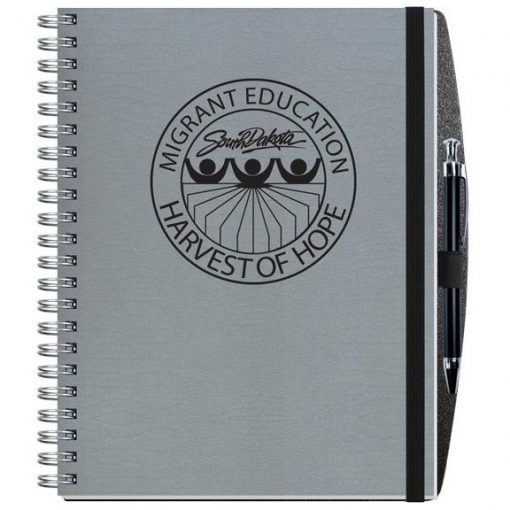 """Embossed Alligator Textured Journal w/100 Sheets and Pen (8½"""" x 11"""")"""
