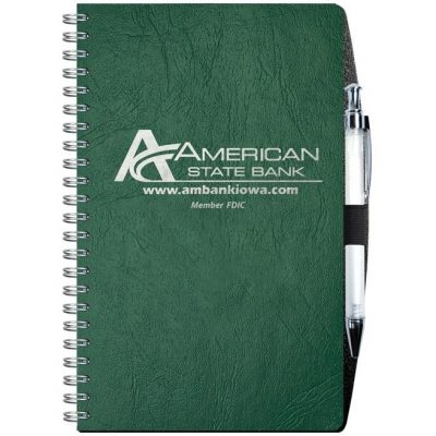 "Flex Cover Academic Weekly Planner w/ Pen Safe Back & Pen (5 1/4"" x 8 1/4"")"