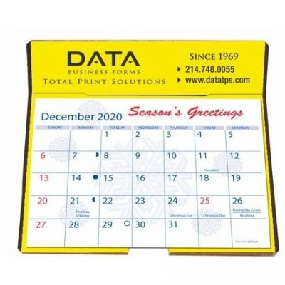 "Foil Stamped Easel Back Calendars (6 1/4"" x 6 3/8"")"
