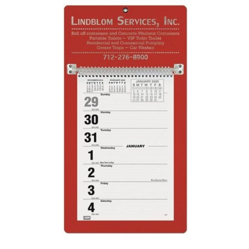 """Foil Stamped Weekly Calendars w/Sunday Start (7"""" x 13"""")"""