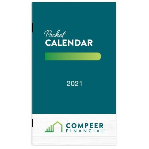 "Full Color Monthly Pocket Planner (3 5/8"" x 6 1/4"")"