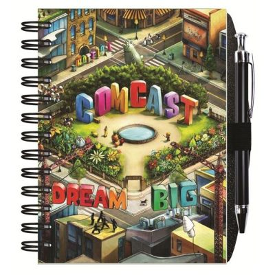 """Gloss Cover Journals w/50 Sheets & Pen (5"""" x 7"""")"""