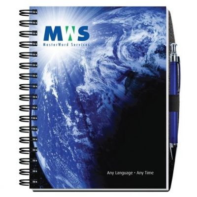 "Gloss Cover Journals w/50 Sheets & Pen (6 1/2"" x 8 1/2"")"