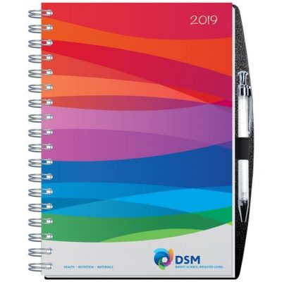 "Gloss Time Managers Calendars w/Pen Safe Back Cover (7"" x 10"")"