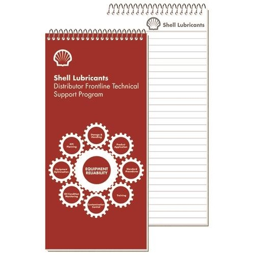"Imprinted Sheet Notebooks w/1 Standard Color (4"" x 8 1/4"")"
